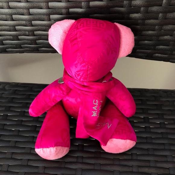 mgm grand hotel neon bright pink teddy bear toy
